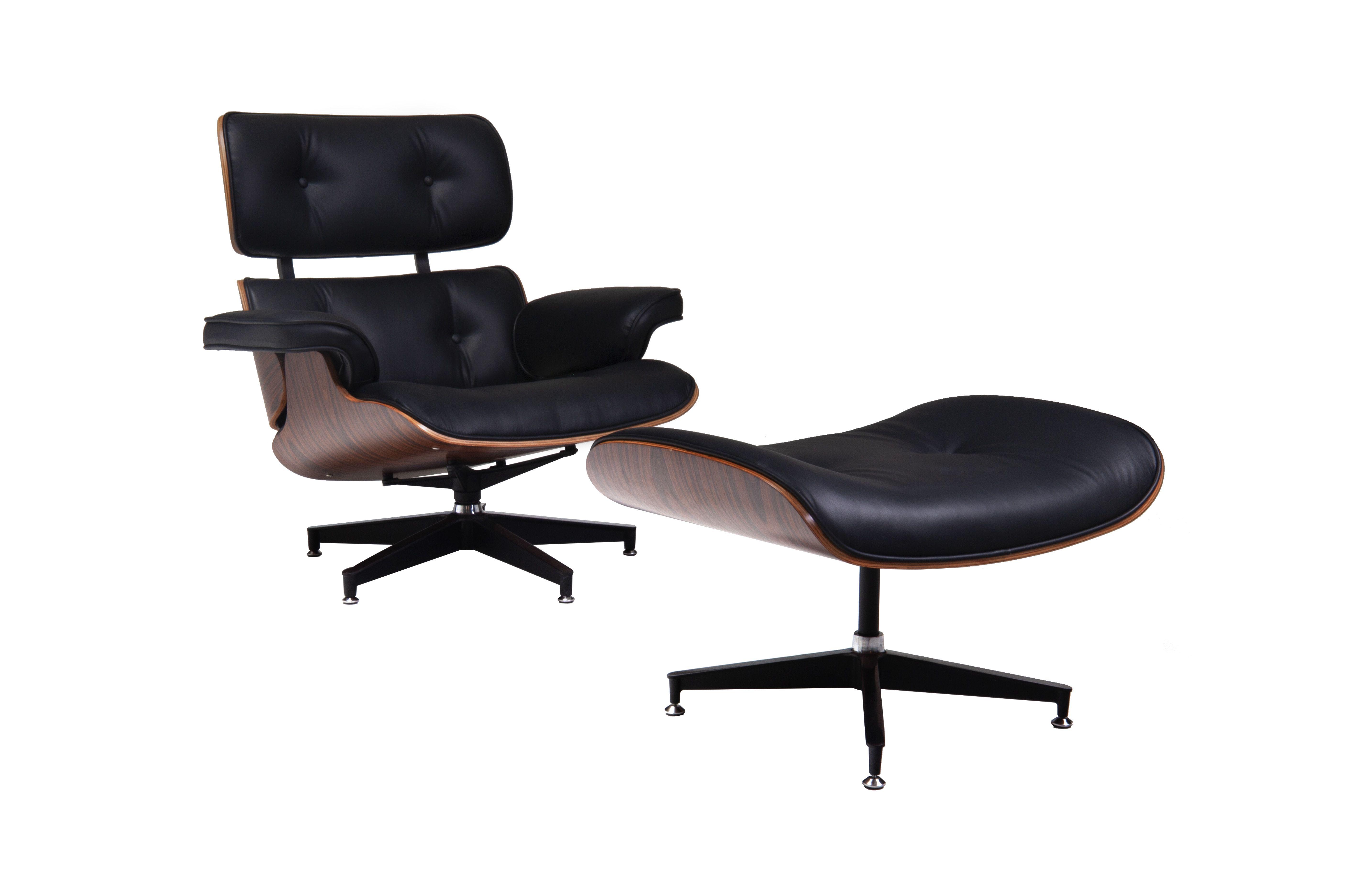 Fauteuil Glostrup met voetenbankje - Zwart - LiL Design