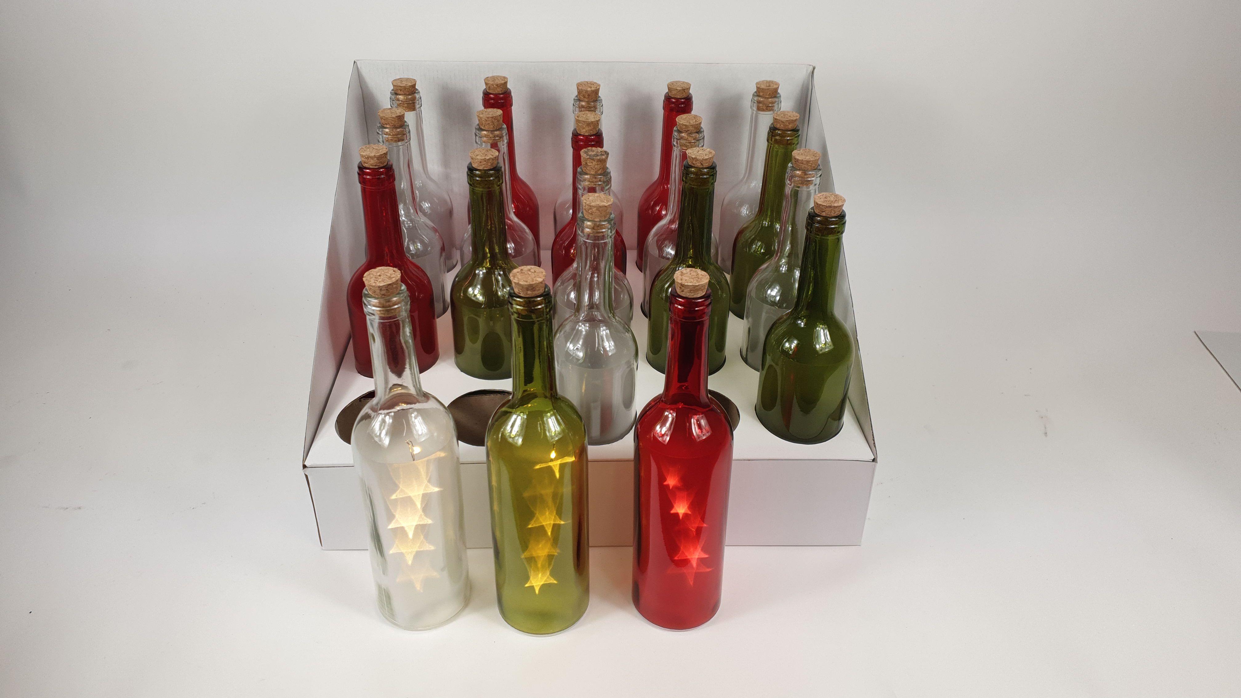 Display flessen met led