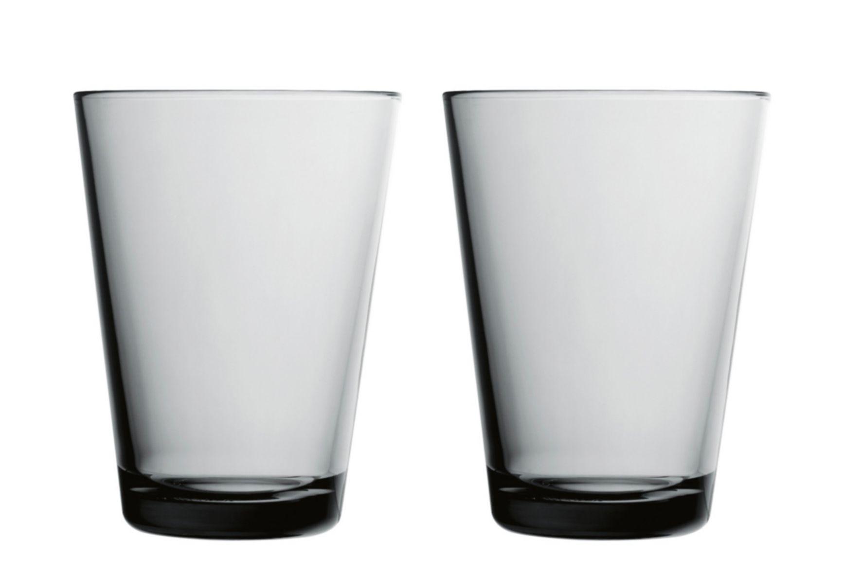Iittala Kartio glas 40cl grijs - 2 stuks