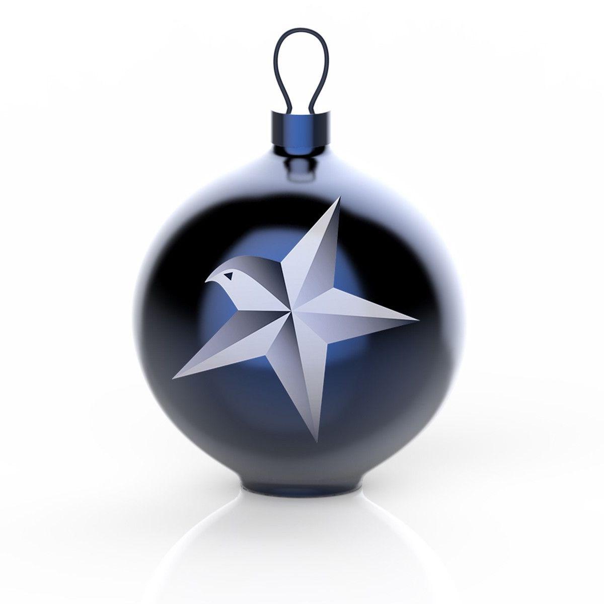 Alessi Kerstbal Blue Christmas Stella