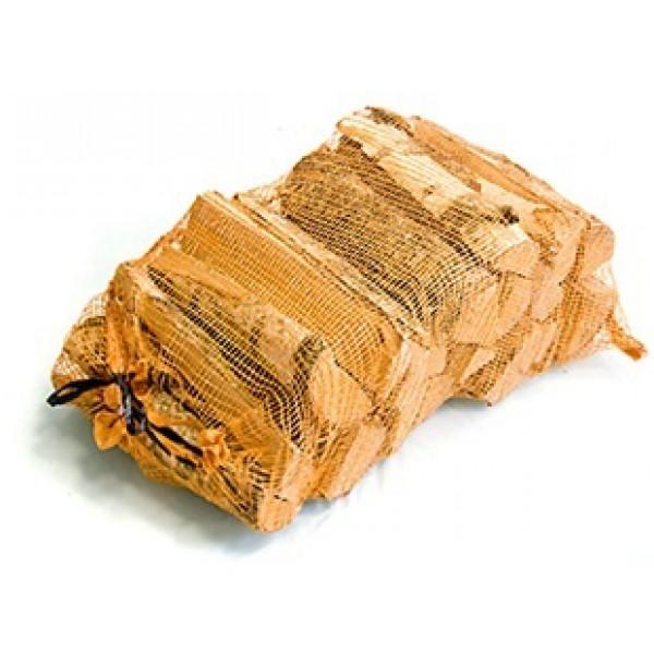 Brandhout in netten
