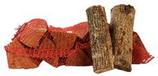 Essenhout in netzakken