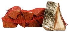 Mix hout in netzakken