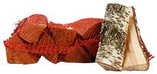 Berkenhout in netzakken