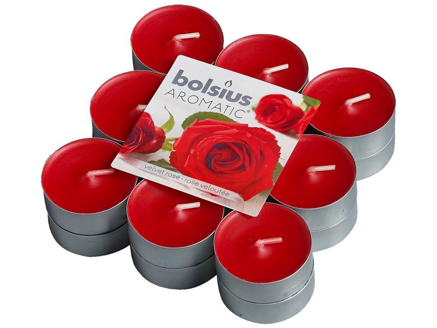 Bolsius geurlichten Aromatic Velvet Rose - 18 stuks
