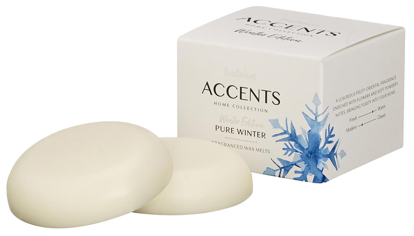 Bolsius Waxmelts Accents Pure Winter - 3 Stuks