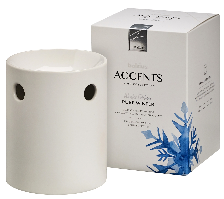 Bolsius Waxmelts Giftset Accents Pure Winter