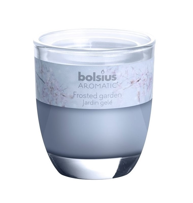 Bolsius geurkaars in glas Aromatic Frosted Garden 80/70 mm