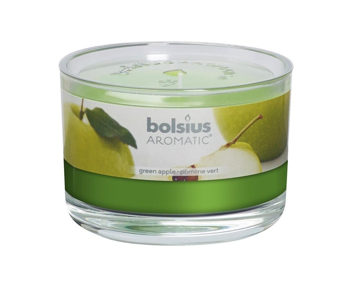 Bolsius geurkaars in glas Aromatic Green Apple 63/90 mm