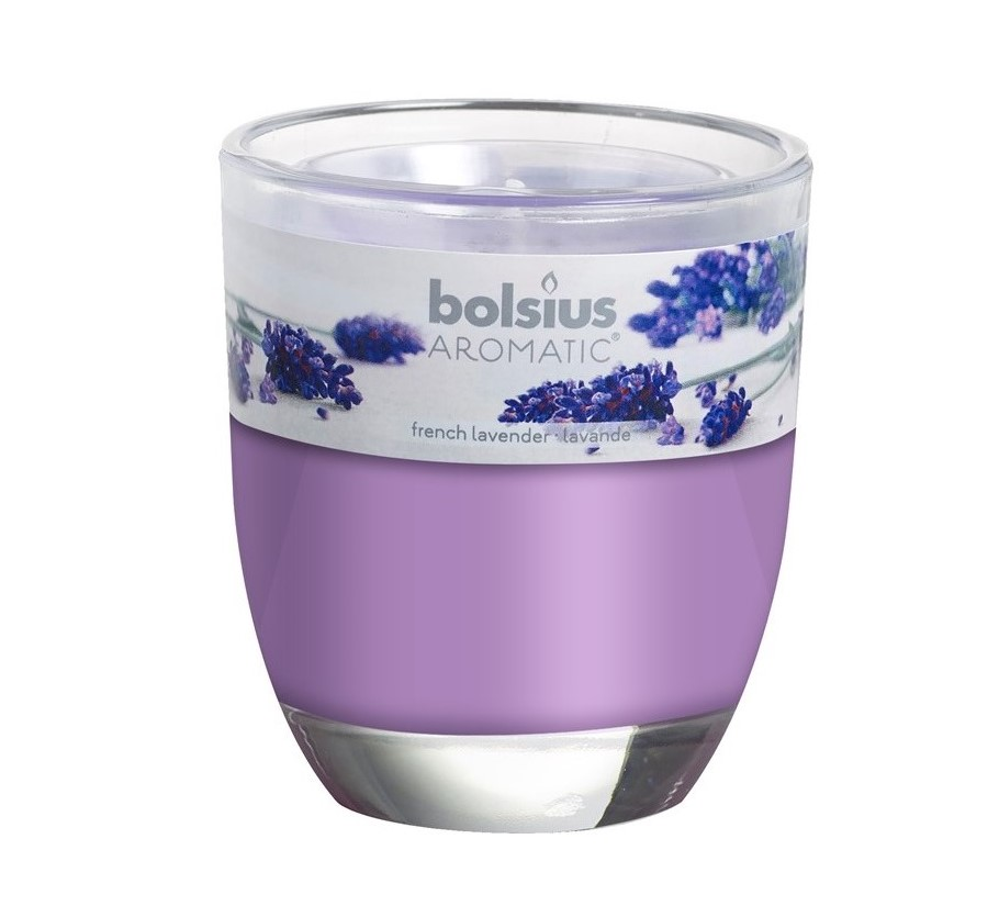 Bolsius geurkaars in glas Aromatic French Lavender 80/70 mm