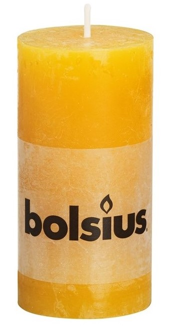 Bolsius stompkaars Rustiek okergeel 100/50 mm