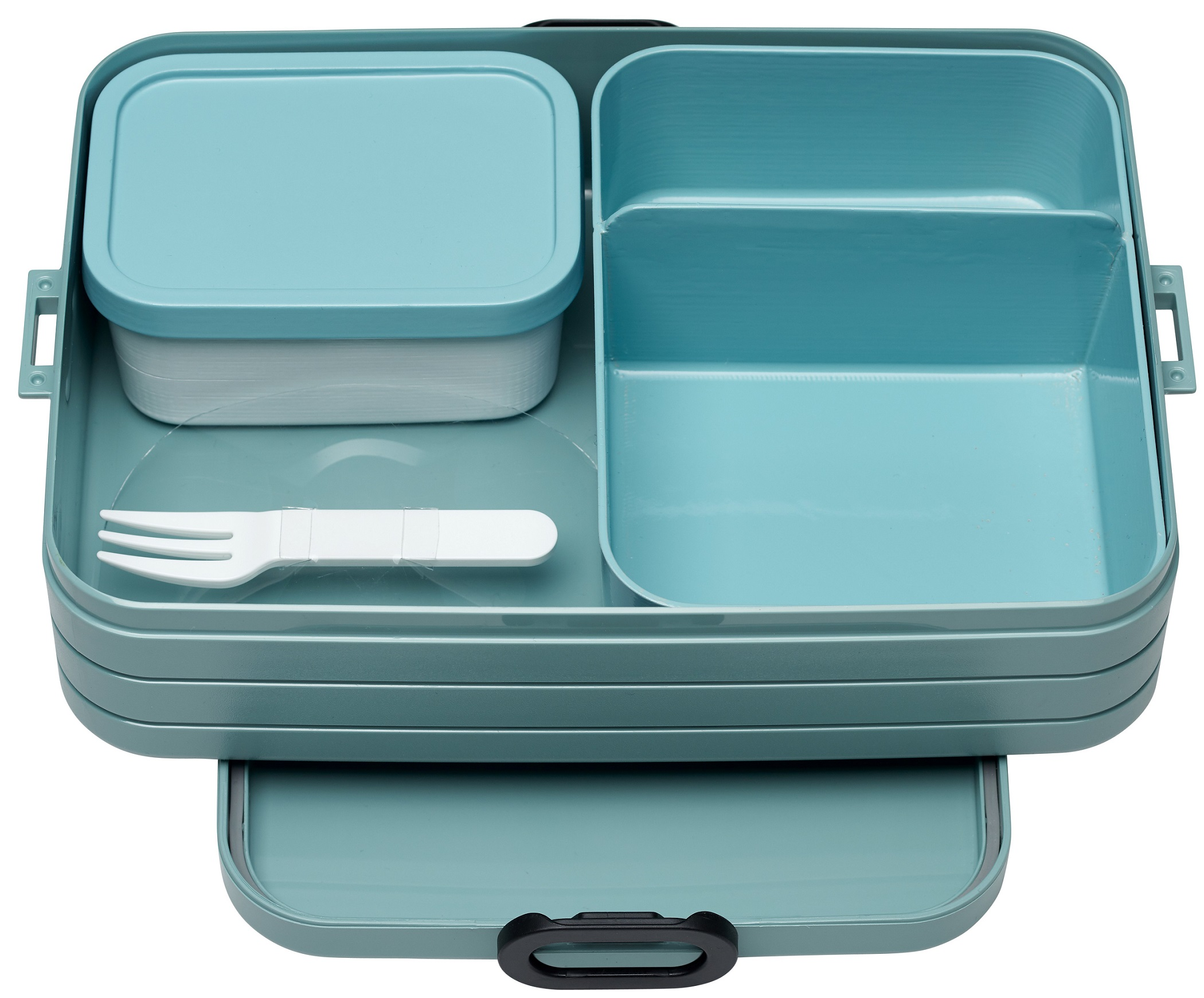 info voor enorme korting klassiek Mepal Lunchbox met Bentobakje Groot Groen