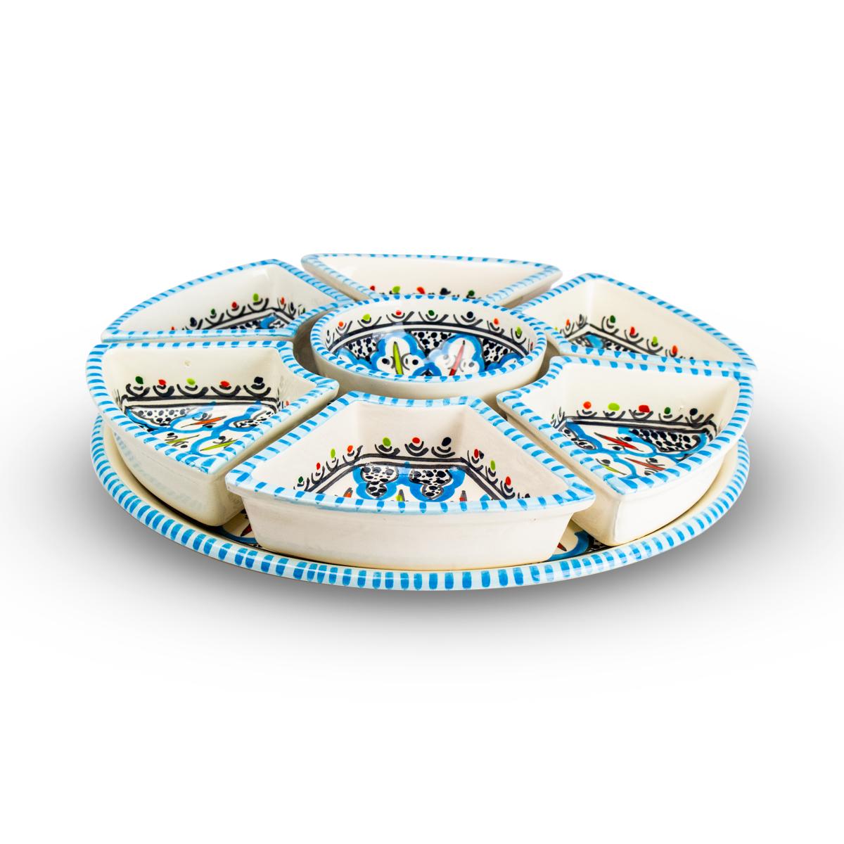 Dishes & Deco Snack & Tapasschale Turquoise Blue Fine 8-teilig