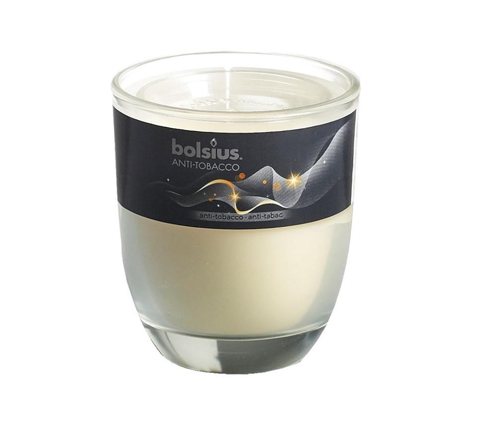 Bolsius geurkaars in glas Aromatic Anti-Tobacco 80/70 mm