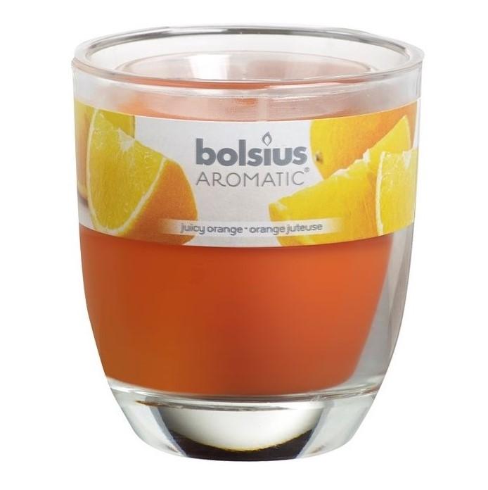 Bolsius geurkaars in glas Aromatic Juicy Orange 120/100 mm