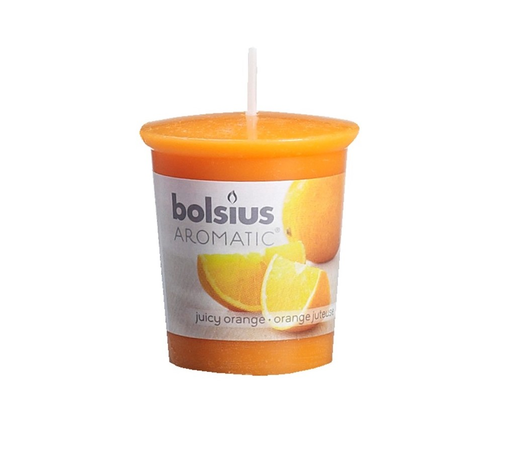 Bolsius geurkaarsje Aromatic Juicy Orange 53/45 mm