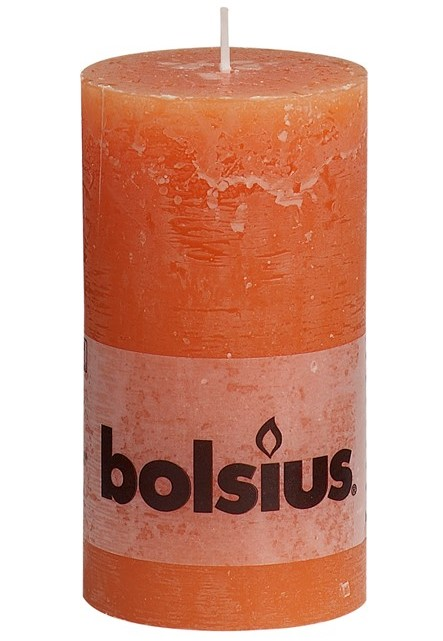 Bolsius stompkaars Rustiek oranje 130/68 mm