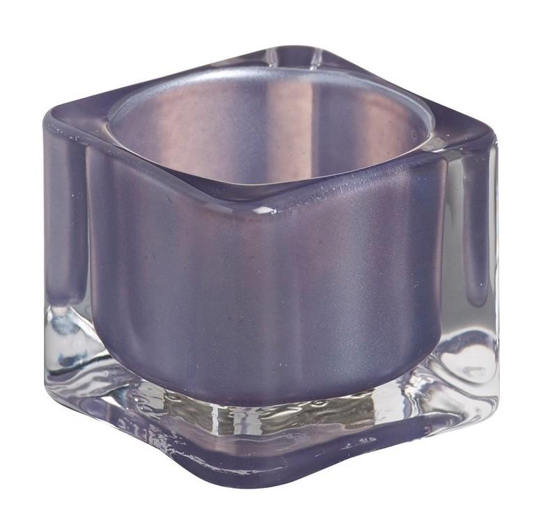 Bolsius theelichthouder Vierkant paars