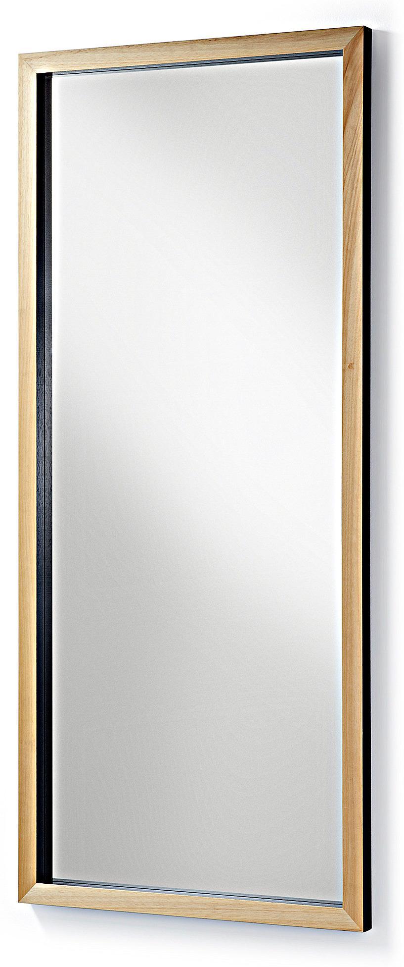 spiegel met houten frame laforma spiegel drop b 178 x h 78 cm houten frame zwart la