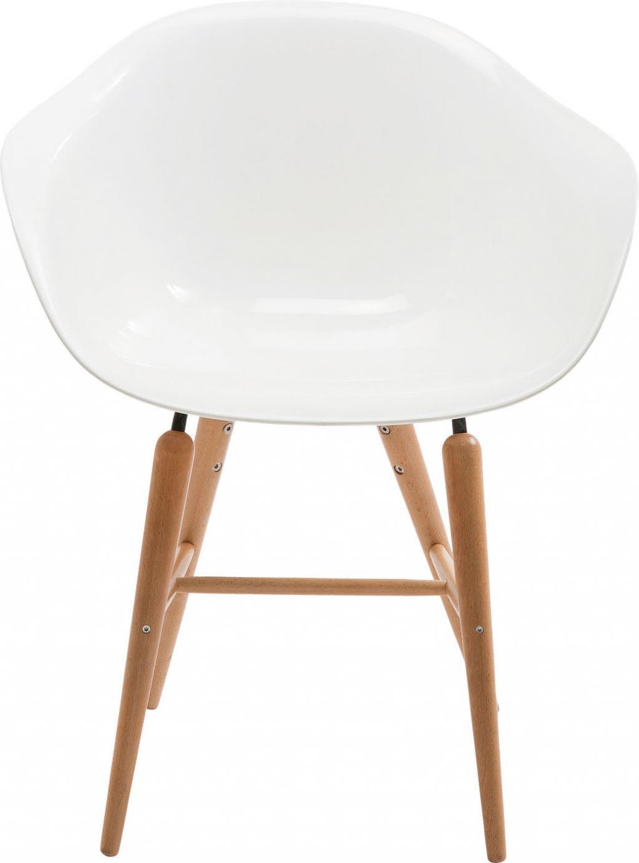 kare design stuhl forum wood wei mit armlehne. Black Bedroom Furniture Sets. Home Design Ideas