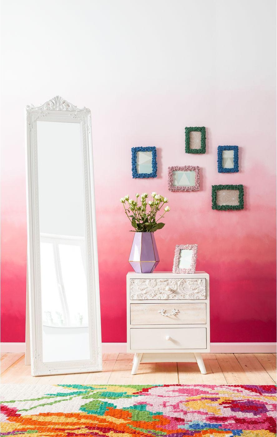 kare design staande spiegel baroque wit 180 cm. Black Bedroom Furniture Sets. Home Design Ideas