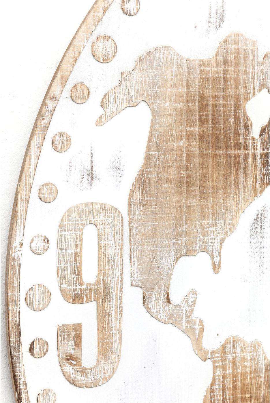 kare design wanduhr antique world white 80cm. Black Bedroom Furniture Sets. Home Design Ideas