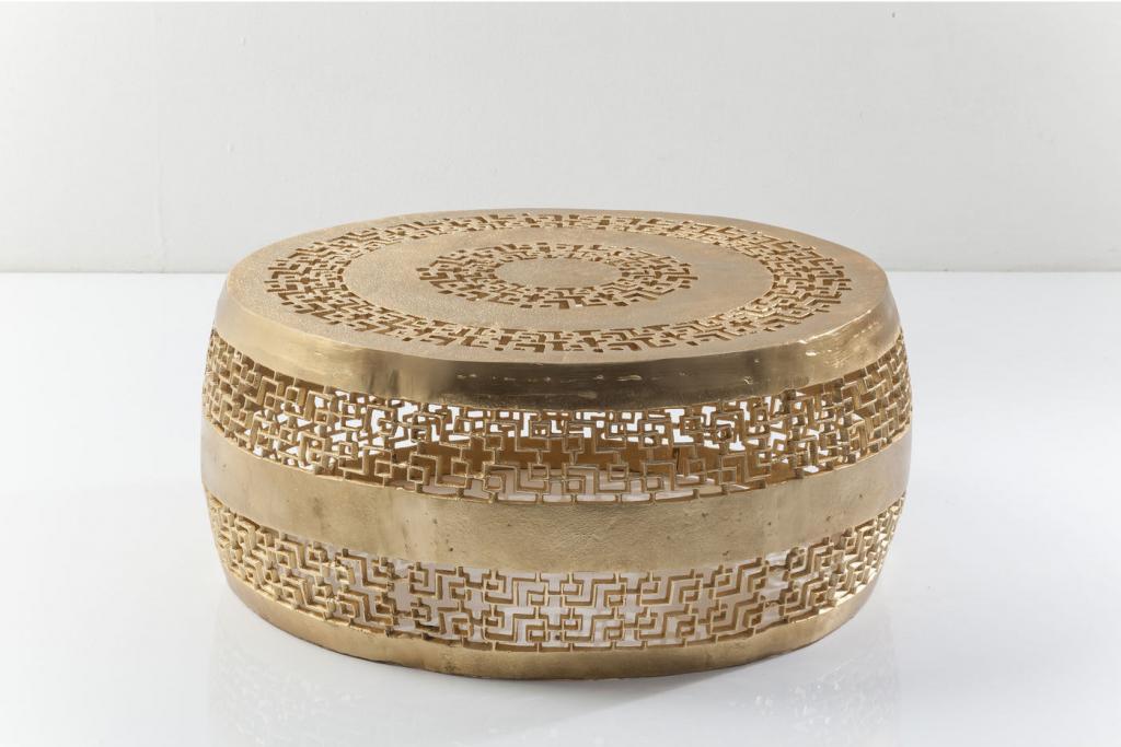 kare design salontafel cleopatra ornament set van 2 goud 32x79x79 meubelen. Black Bedroom Furniture Sets. Home Design Ideas