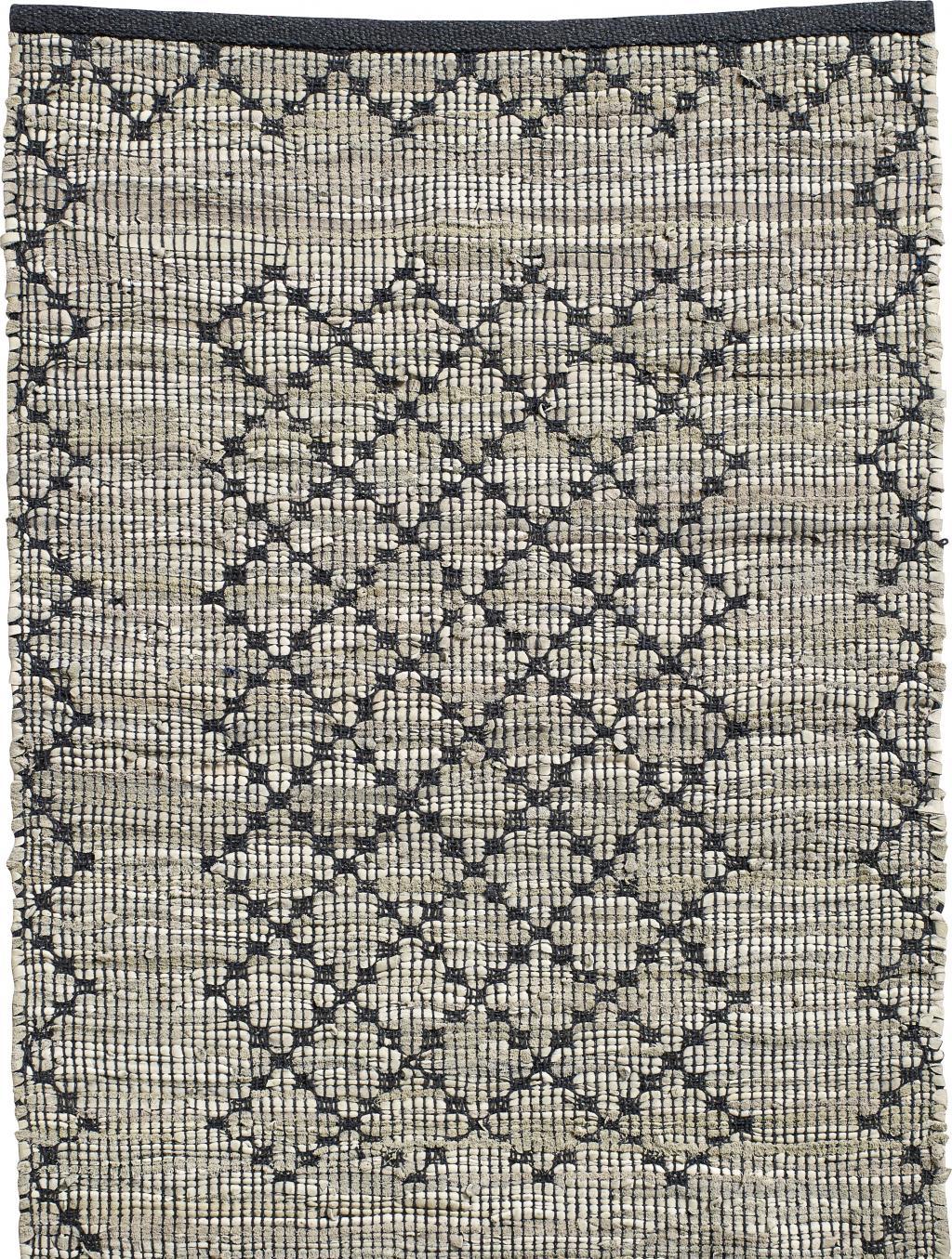 nordal teppich chindi gewebt leder baumwolle 200x250 cm. Black Bedroom Furniture Sets. Home Design Ideas