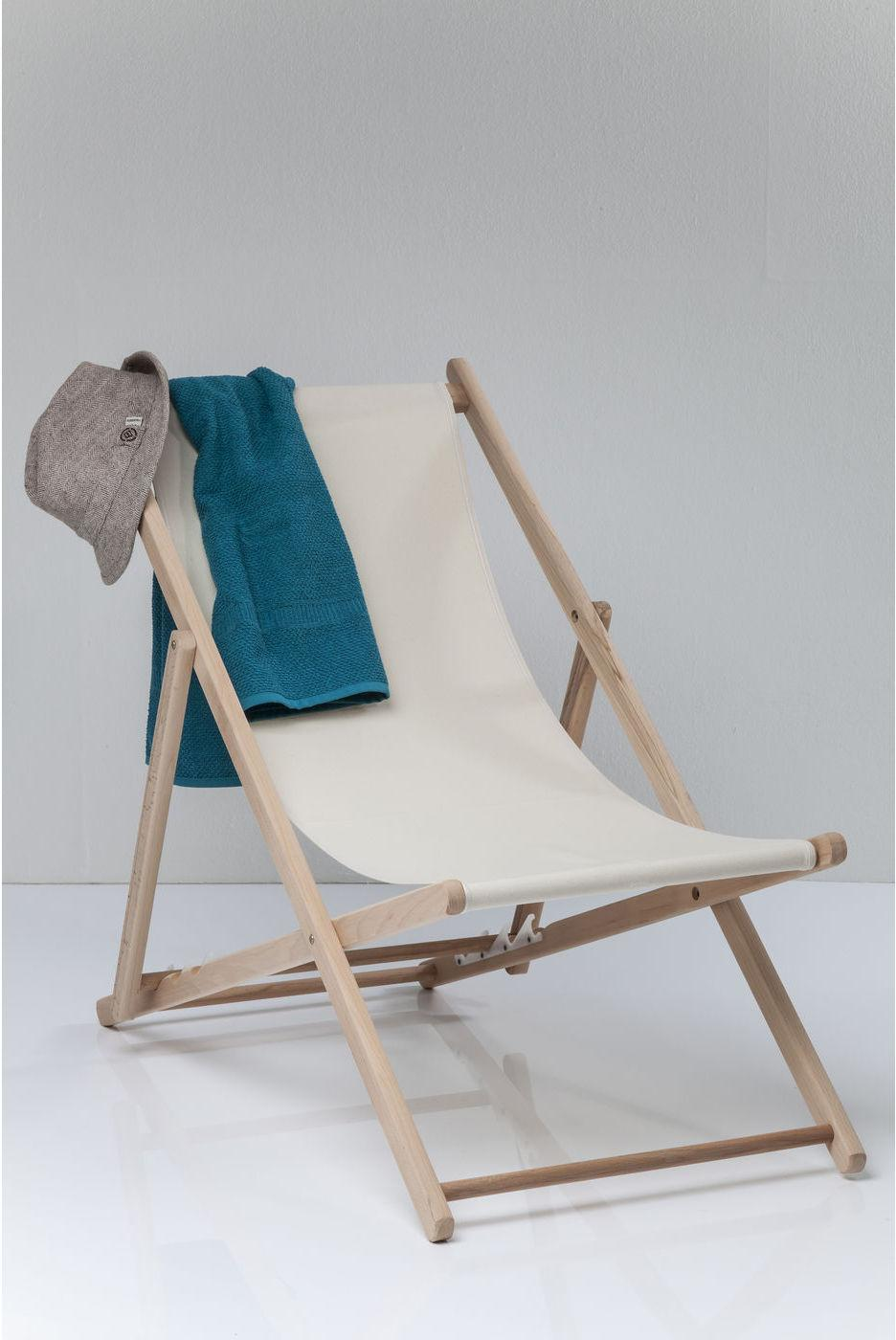 Kare design strandstoel ligstoel easy summer beige katoen for Design ligstoel
