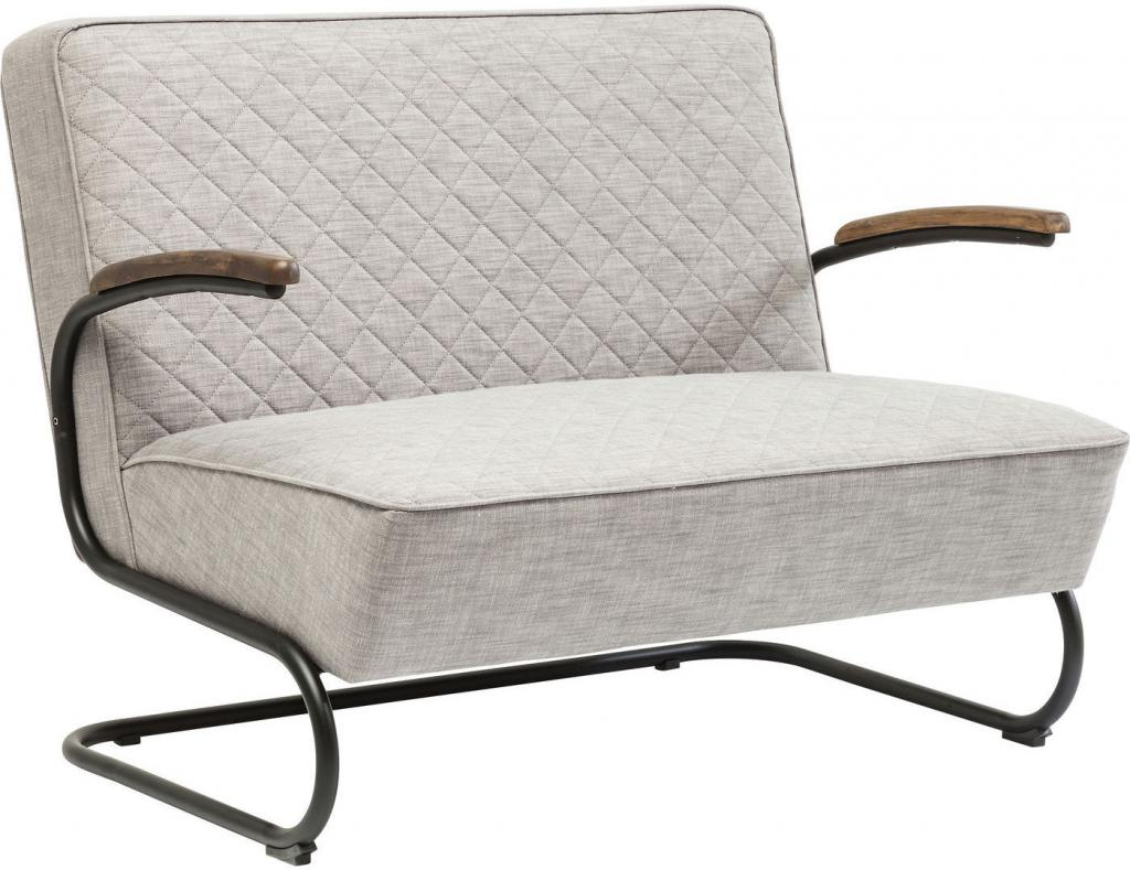 kare design bank retro lichtgrijs polyester meubelen verlichting. Black Bedroom Furniture Sets. Home Design Ideas