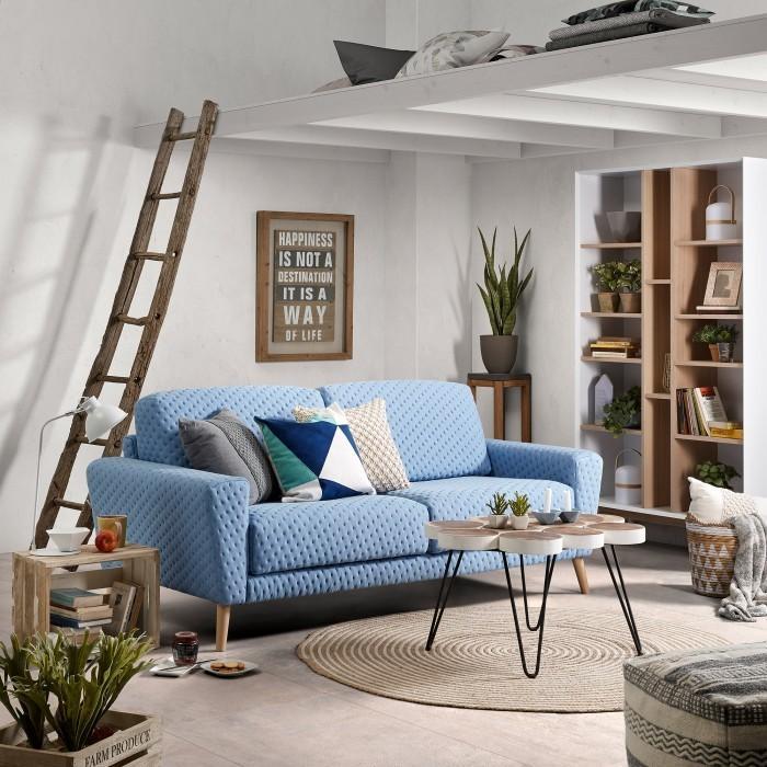 laforma hocker agne 50x50x40 baumwolle grau la forma. Black Bedroom Furniture Sets. Home Design Ideas