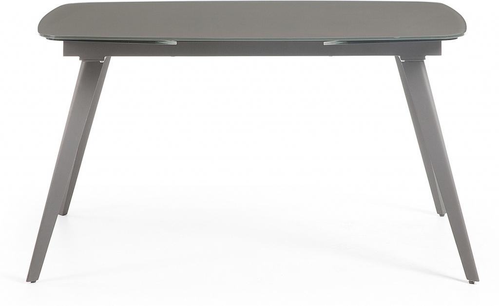 laforma esstisch snugg anthrazit ausziehbar 120 180 x80 naturell glas la forma. Black Bedroom Furniture Sets. Home Design Ideas