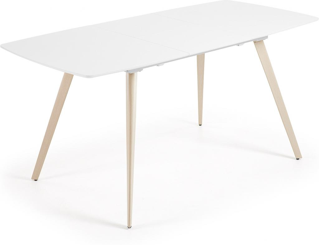 laforma eettafel smart verlengbaar 140 tot 190 cm wit mdf la forma meubelen. Black Bedroom Furniture Sets. Home Design Ideas