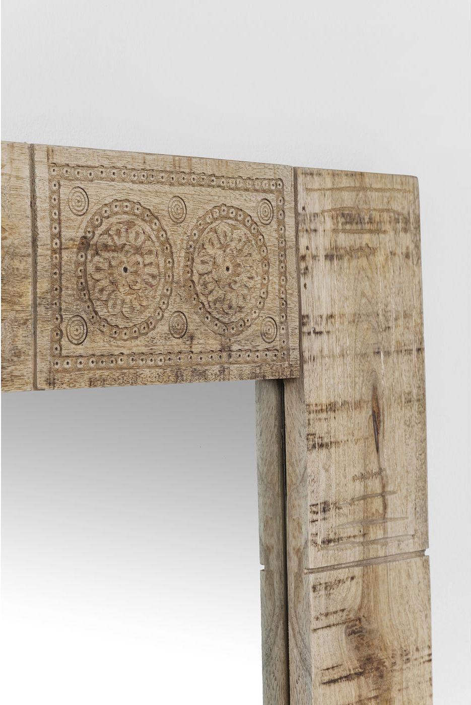 kare design spiegel puro mangohout 100 x 80 cm meubelen verlichting. Black Bedroom Furniture Sets. Home Design Ideas