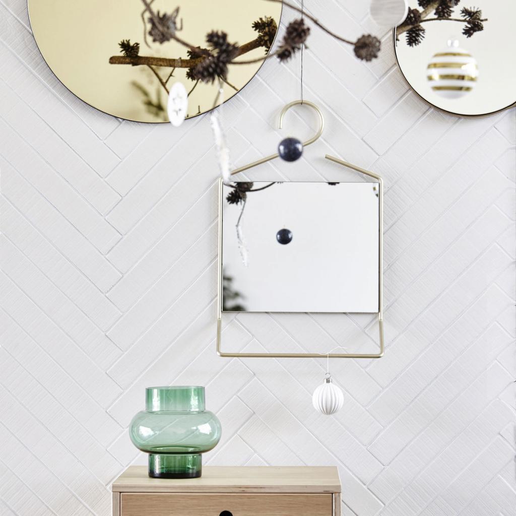 House doctor spiegel hang goud 32x7 x h50 cm designwonen for House doctor verlichting