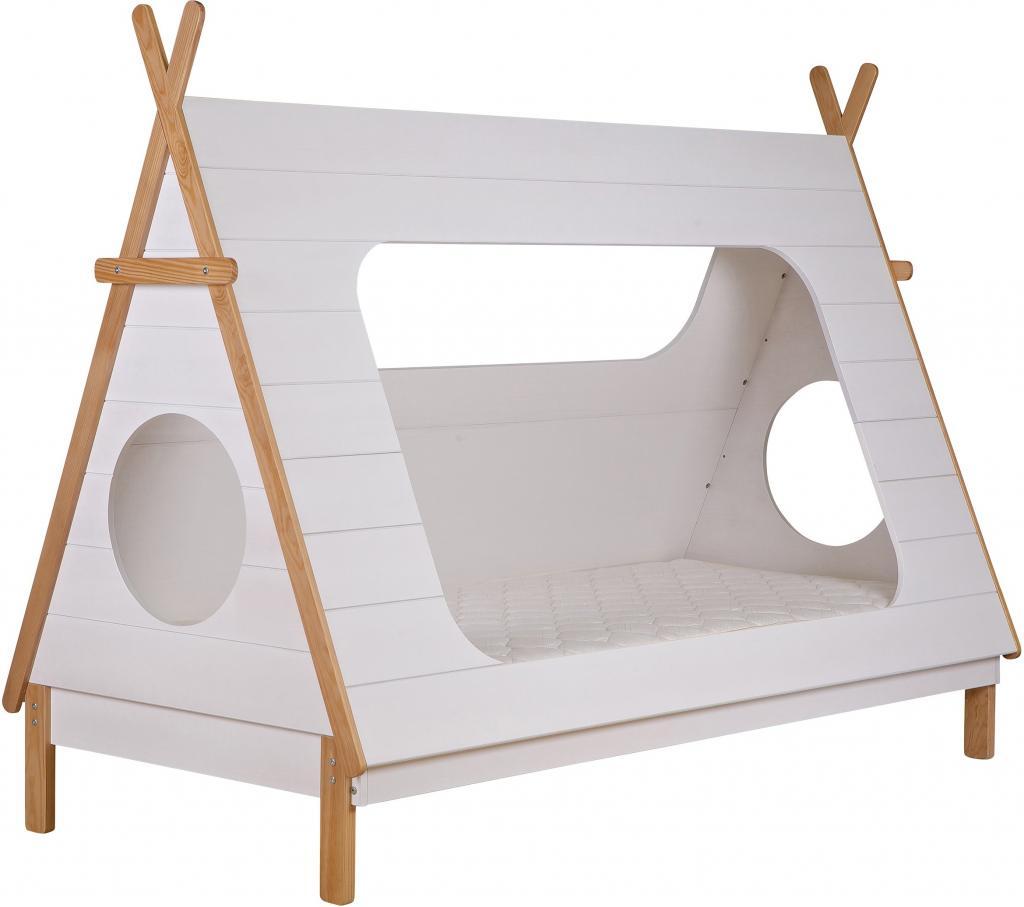 woood kinderbett tipi 90x200 inkl lattenrost exkl matratze wei kiefer. Black Bedroom Furniture Sets. Home Design Ideas