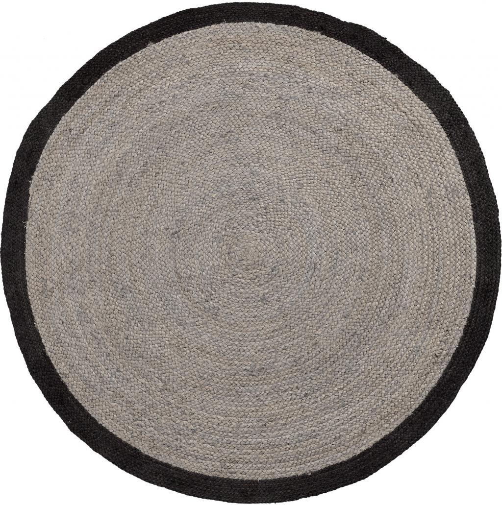 laforma teppich samy jute rund 150 cm schwarz la forma sale. Black Bedroom Furniture Sets. Home Design Ideas