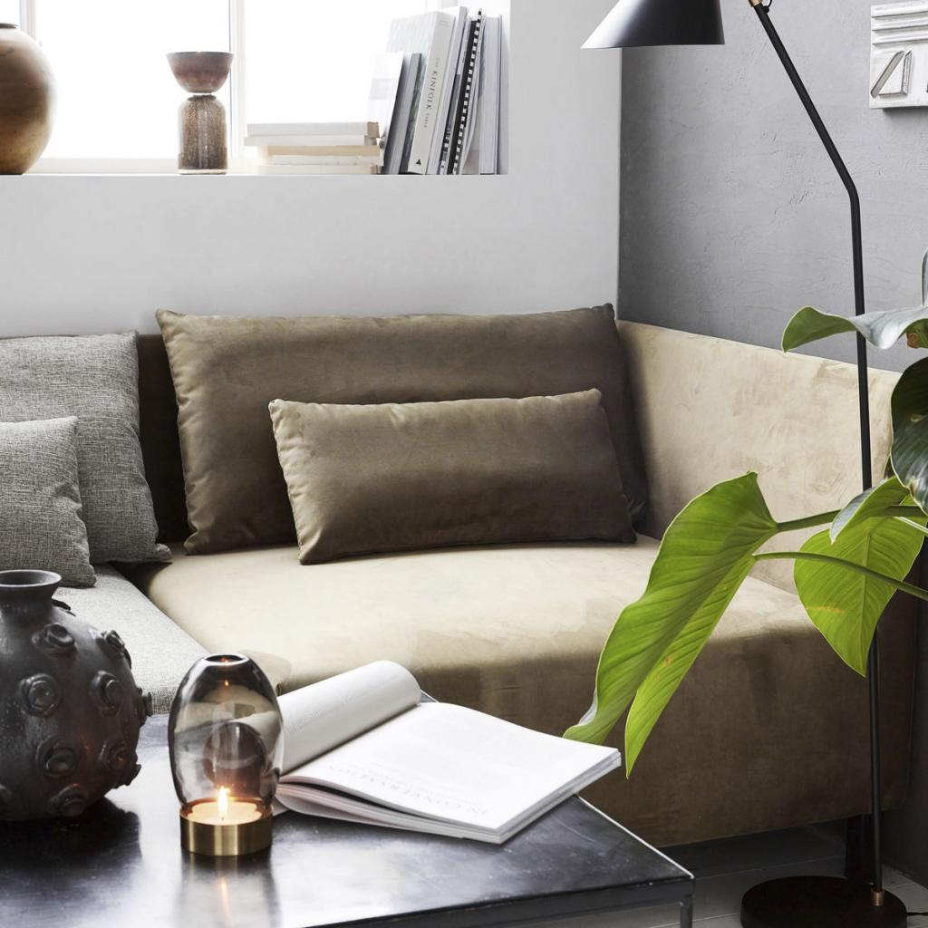 house doctor hoekelement box sand met armleuning 2 kussens meubelen. Black Bedroom Furniture Sets. Home Design Ideas