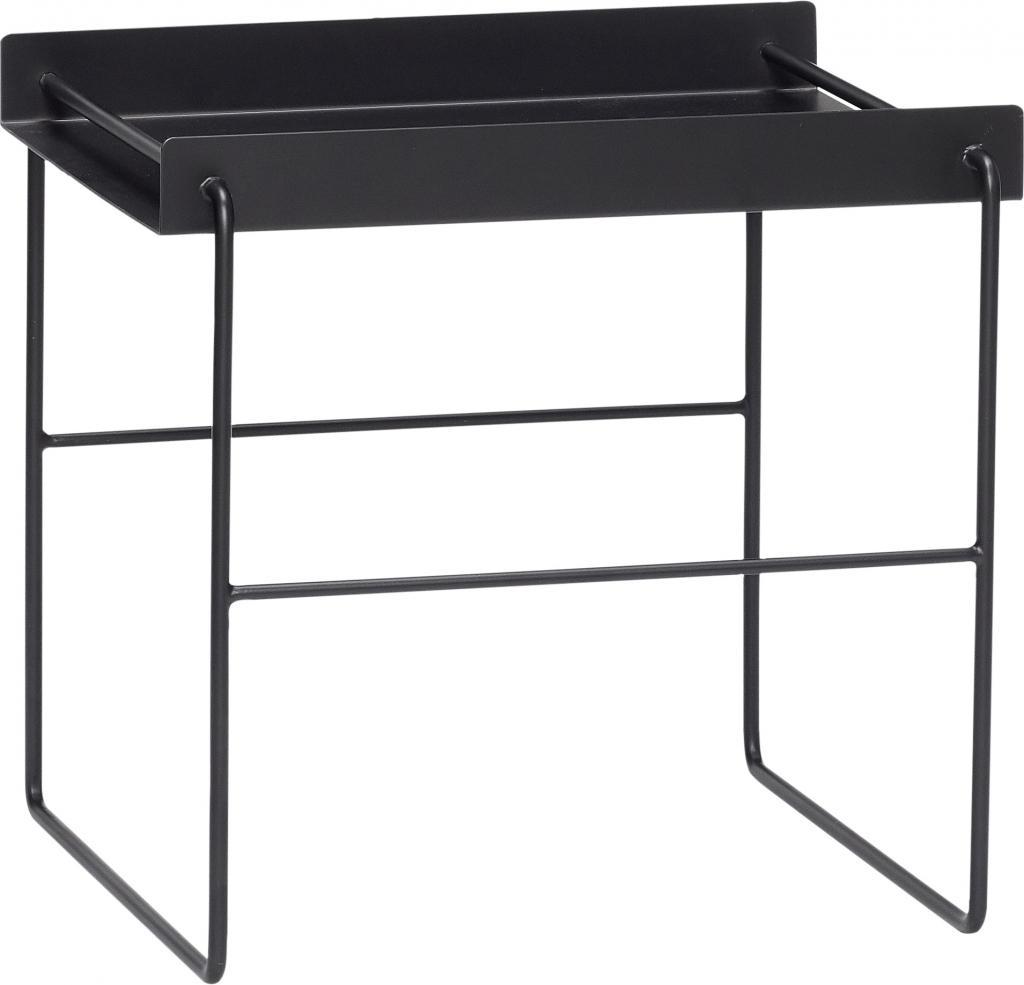 hubsch beistelltisch viereckig schwarz metall 41x41x45 cm h bsch. Black Bedroom Furniture Sets. Home Design Ideas