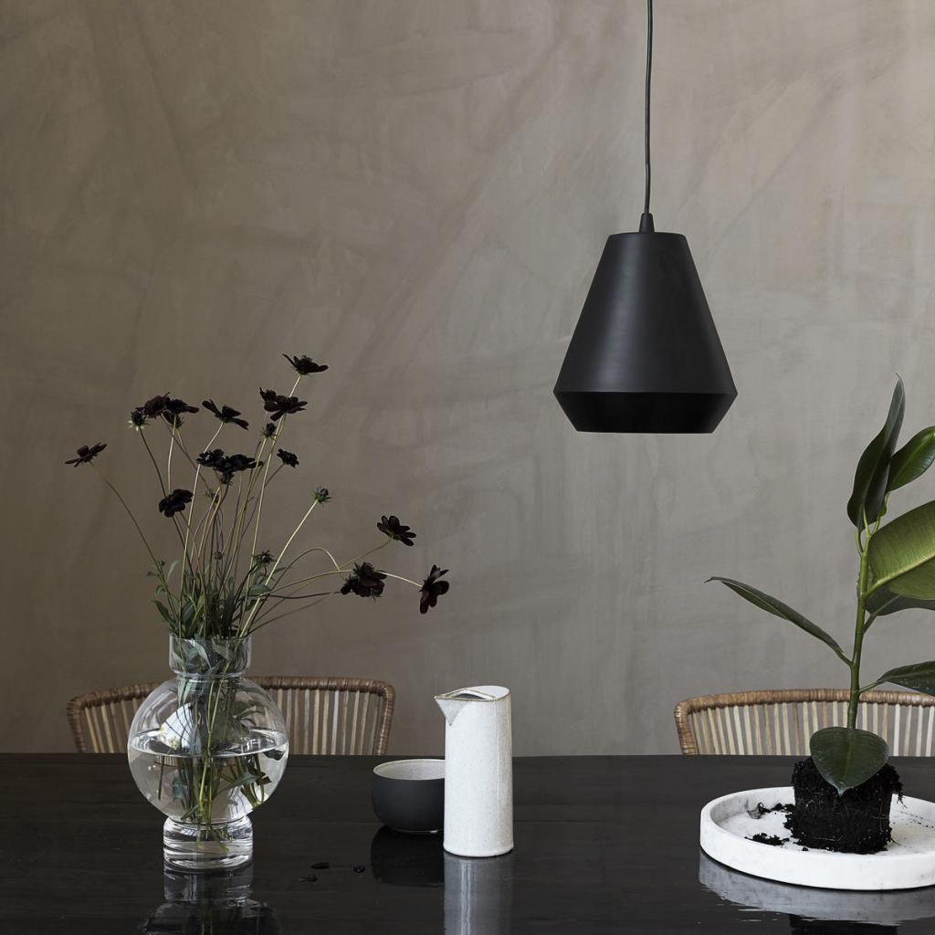 House doctor hanglamp hood zwart for House doctor verlichting