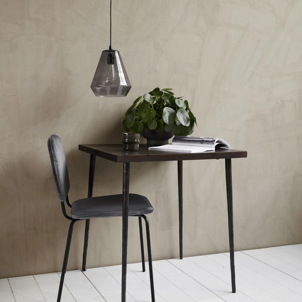 house doctor eettafel bord vierkant 70 x 70 cm mangohout zwart gebeitst. Black Bedroom Furniture Sets. Home Design Ideas