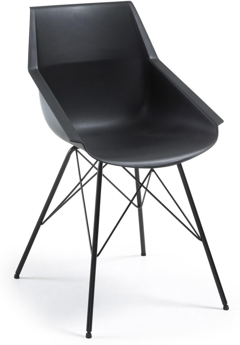 laforma esszimmerstuhl kunn schwarz epoxy kunststoff schale la forma. Black Bedroom Furniture Sets. Home Design Ideas