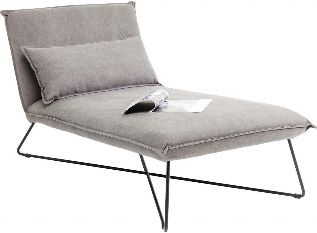 Kare design relax stoel cornwall grijs katoen metaal for Relax stoel