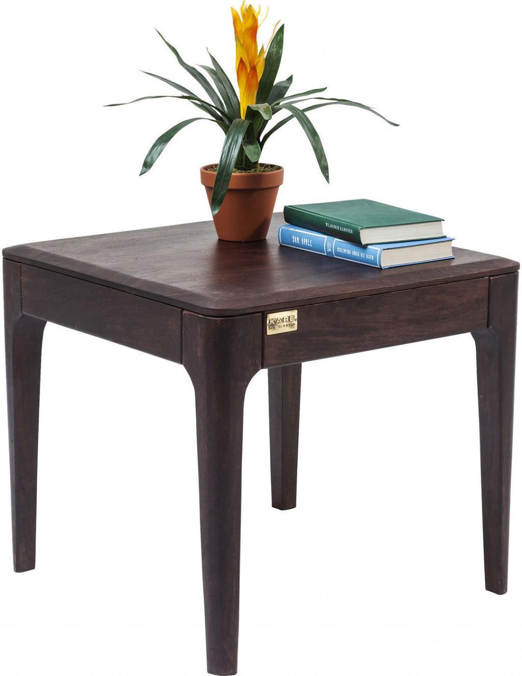 Kare Design Beistelltisch Brooklyn 50 X 50 Sheesham Holz
