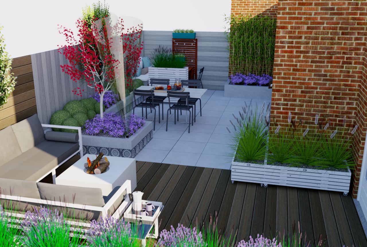 Verhoogde border maken van beton blokken muurelementen tuin for Tuinontwerp tips