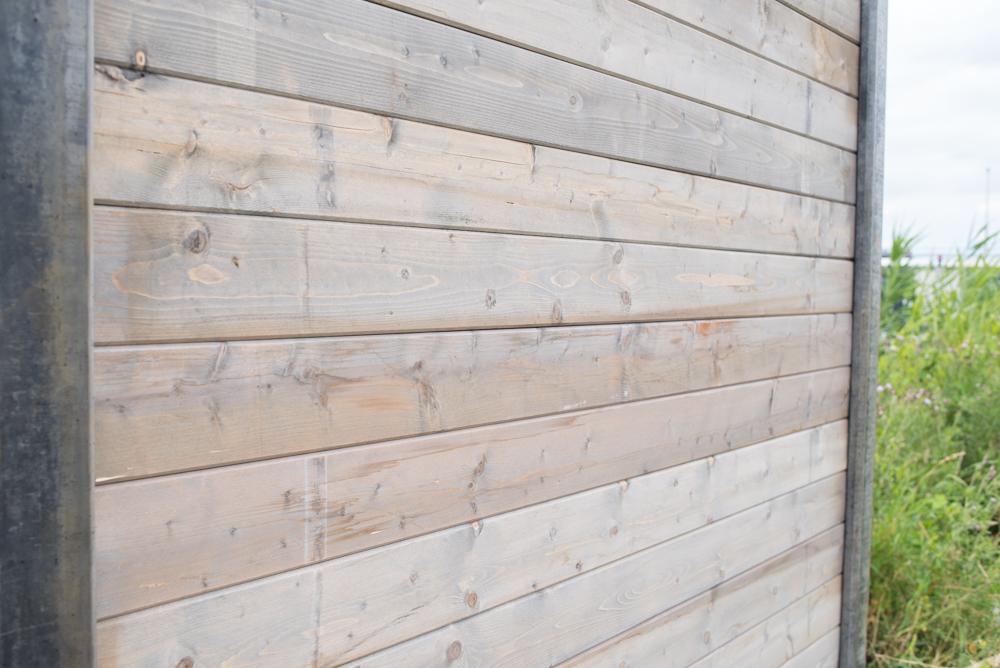 Betonpalen schutting grijs geimpregneerd