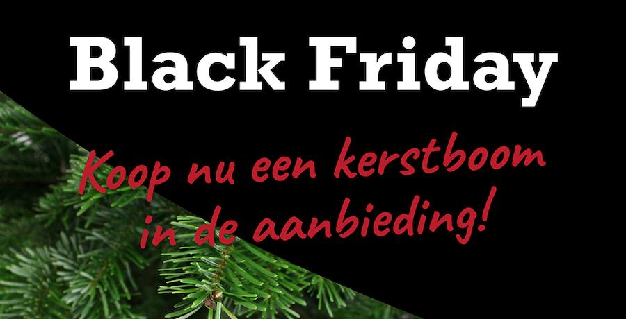 Black friday kerstboom actie
