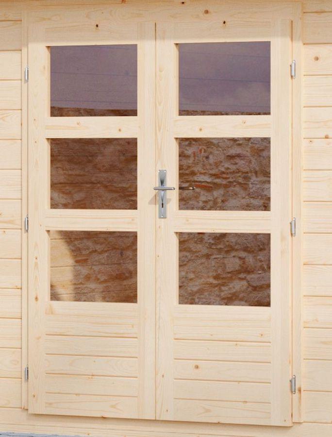 Houten deur blokhut