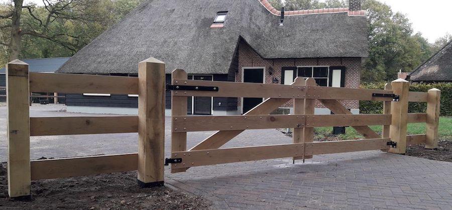 Eikenhout poort