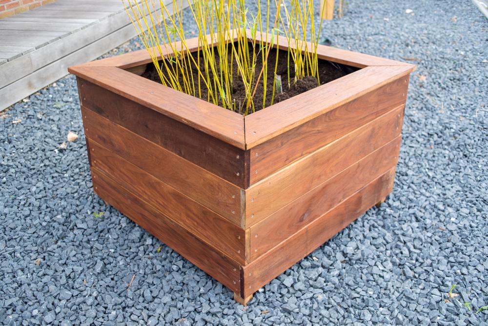 houten plantenbak op maat maken - maatwerk bloembak